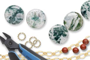 Tree Agate Gemstone Beads