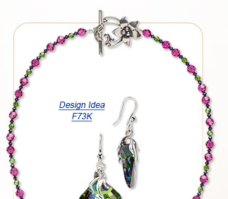 Design Idea F73K Single-Strand Necklace and Earring Set