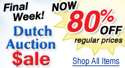 Dutch Auction Sale Final Week - Save 80% off Regular Prices