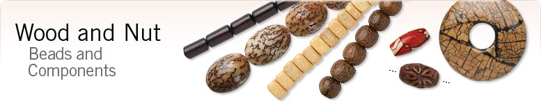Wood and Nut Beads and Components