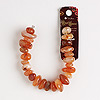 Bead, Blue Moon Beads®, carnelian (dyed / heated), extra-large hand-cut chip. Sold per 7-inch strand.