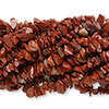 Bead, red jasper (natural), medium chip, Mohs hardness 6-1/2 to 7. Sold per pkg of (10) 36-inch strands.